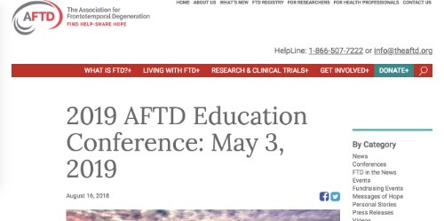 2019 AFTD Education Conference