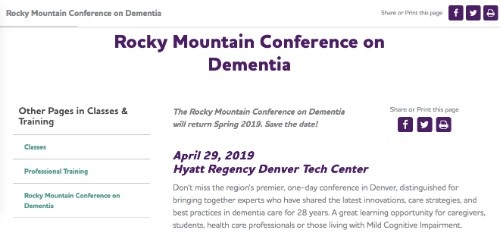 Rocky Mountain Conference on Dementia