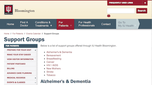 Indiana University Health Bloomington Alzheimer's Care Circle Support Group for Spouse Caregivers-min.png