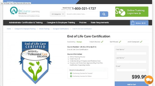Institute for Professional Care Education-End of Life Care Certification-min