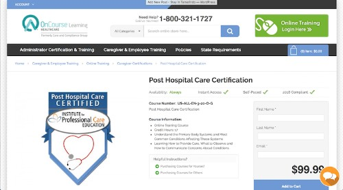 Institute for Professional Care Education-Post Hospital Care Certification-min