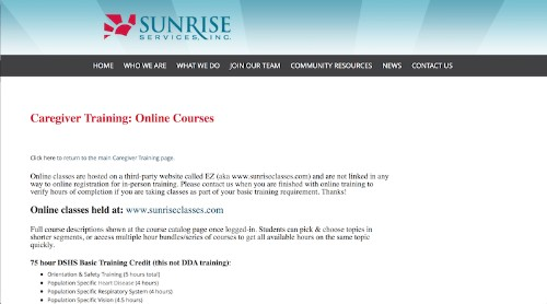 Sunrise Services-Online Caregiver Training Program-min