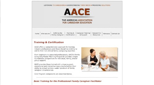 The American Association for Caregiver Education-Basic Training for the Professional Family Caregiver Facilitator-min