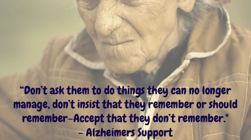 Dont ask them to do things - Alzheimers Support
