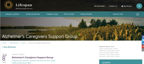 Lifespan Alzheimers Caregivers Support Group