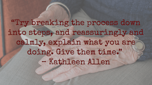 Try breaking the process down into steps - Kathleen Allen