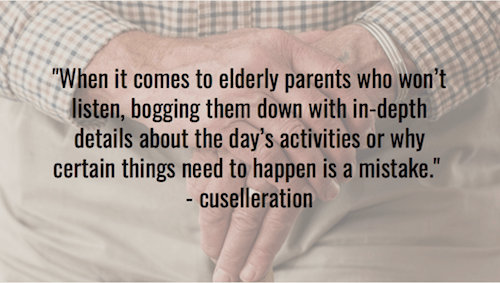 When it comes to elderly parents - cuselleration